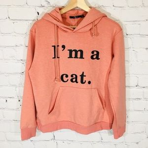 """""""I'm A Cat"""" ZAFUL Cat Ear Pink Hoodie Pullover NEW"""